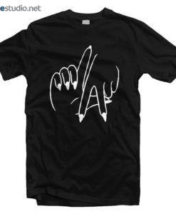LA T Shirt Los Angeles Hand