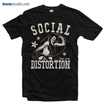 Social Distortion T Shirt Established 1979