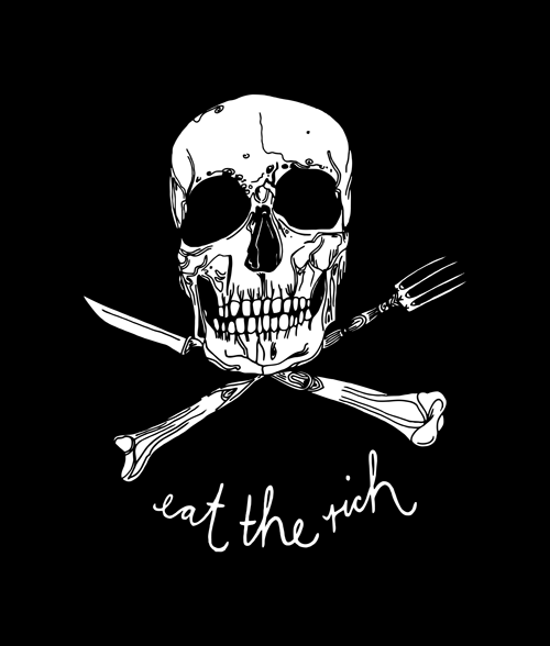 Eat the Rich Skull T Shirt