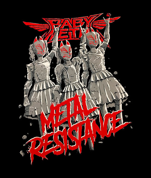 BabyMetal Metal Resistance T Shirt Band Tees