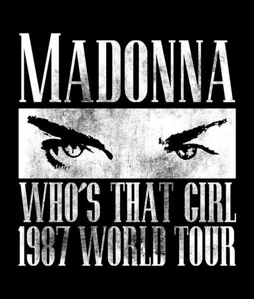 Madonna T Shirt Who's That Girl 1987 World Tour