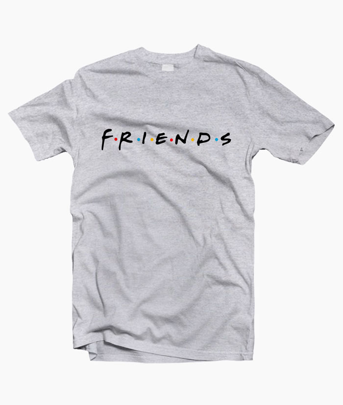 à vendre bonne vente de chaussures nouvelle qualité Friends T Shirt Logo Graphic Tees For Men Women