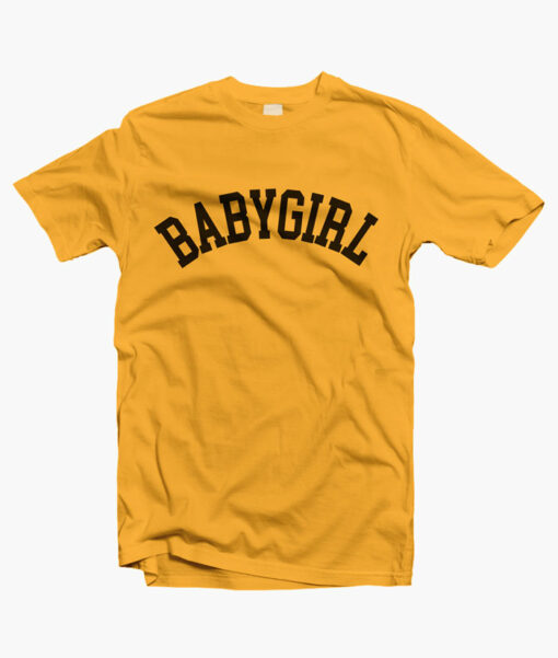 Baby Girl T Shirts gold yellow
