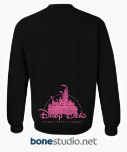 Drop Dead KITTY BRAINS Disney Minnie Mouse Black Sweatshirt