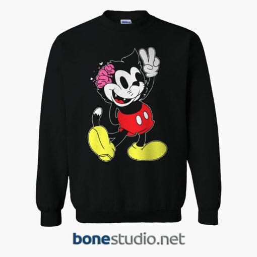 Drop Dead Kitty Mouse Brainz Sweatshirt Black
