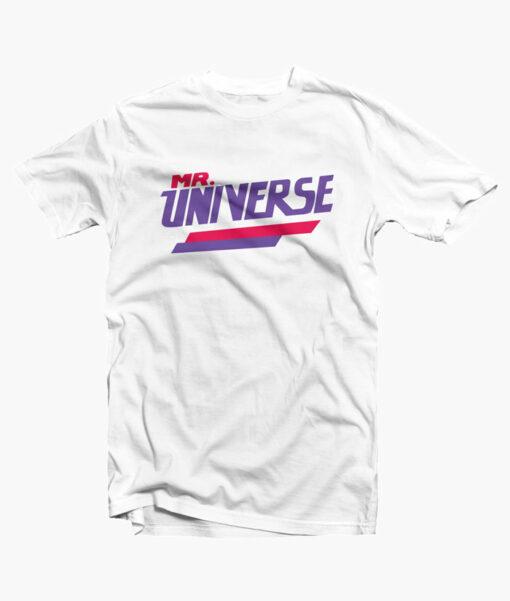 Mr Universe T Shirt white