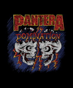 Pantera Domination Skulls T Shirt