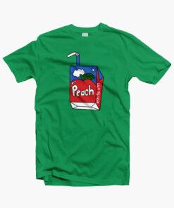 Peach T Shirt irish green