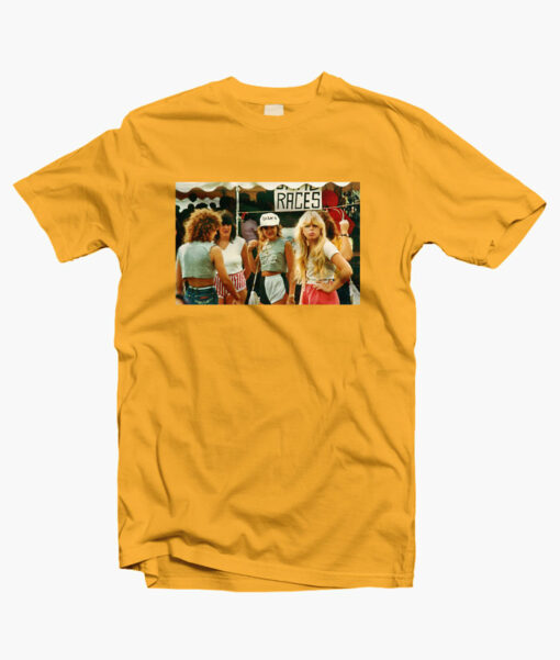 1980s Fashion T Shirts gold yellow
