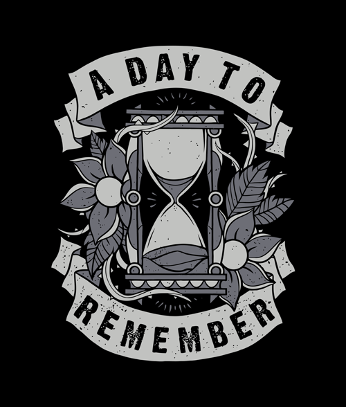 A Day To Remember Hourglass T Shirt Size S-M-L-XL-2XL-3XL A Day To Remember
