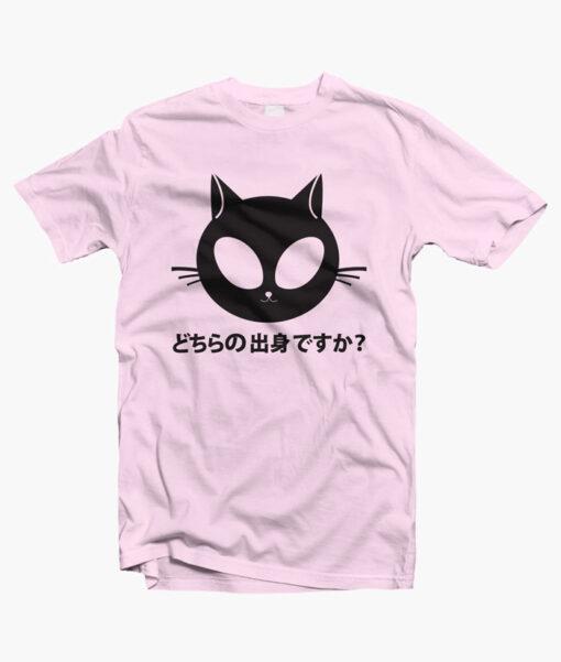 Alien Kitty T Shirt pink