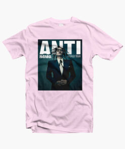 Anti Rihanna Tour T Shirt pink