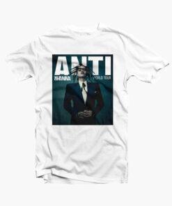 Anti Rihanna Tour T Shirt white