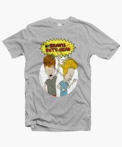 Beavis And ButtHead T Shirt grey