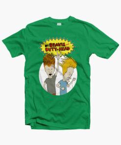 Beavis And ButtHead T Shirt irish green