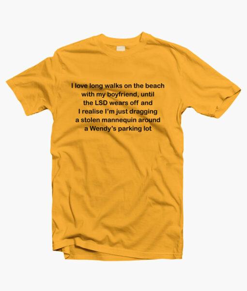 Boyfriends T shirt gold yellow