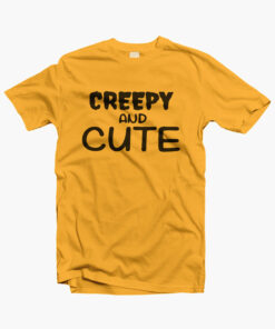 Creepy And Cute T Shirt gold yellow