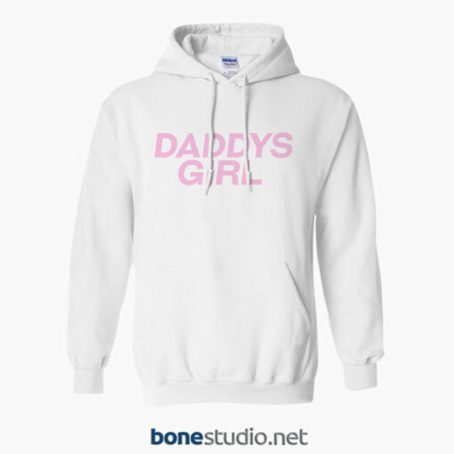 Daddys Girl Hoodie white