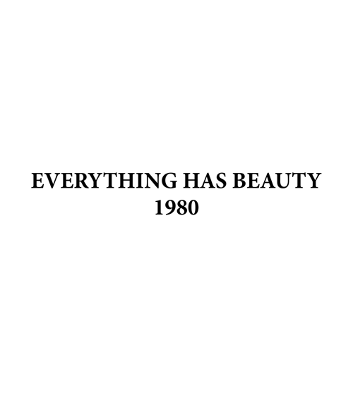 Everything Has Beauty T Shirt