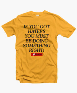 Haters Shirt gold yellow