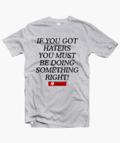 Haters Shirt sport grey