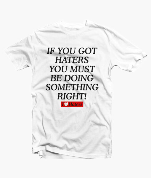 Haters Shirt white