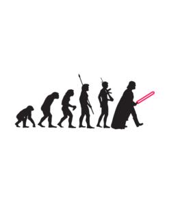 Human Evolution Star Wars T Shirt