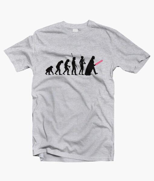 Human Evolution Star Wars T Shirt sport grey