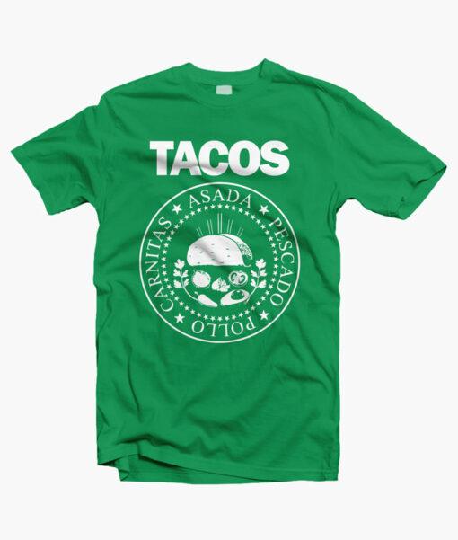 I Love Tacos Shirt irish green