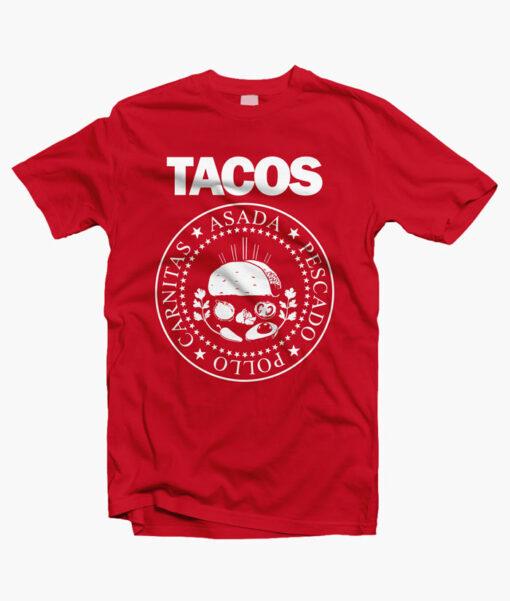 I Love Tacos Shirt red