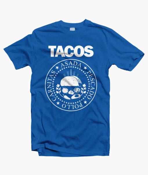 I Love Tacos Shirt royal blue