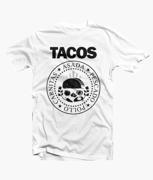 I Love Tacos Shirt white