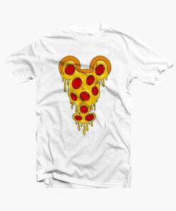 Mickey Pizza T Shirt white