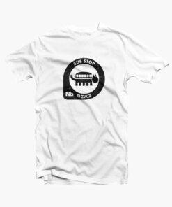 Neko Bus Stop T Shirt white
