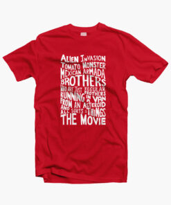 Rick And Morty Two Brothers Hand Lettered T Shirt red