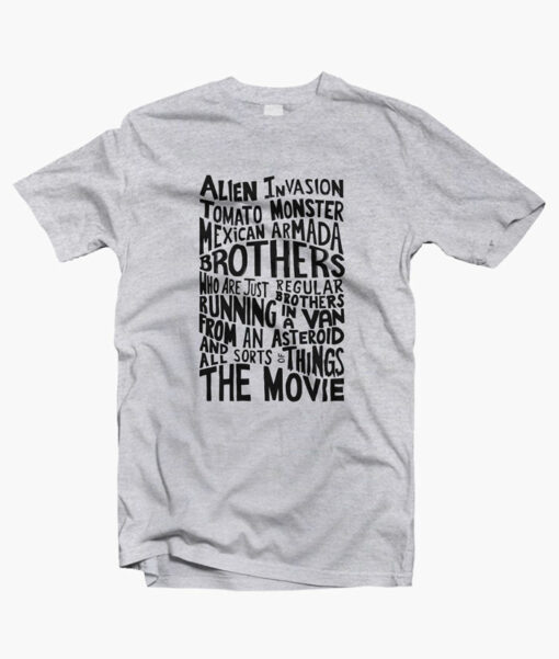 Rick And Morty Two Brothers Hand Lettered T Shirt sport grey