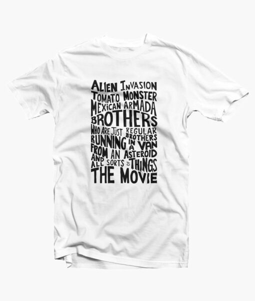 Rick And Morty Two Brothers Hand Lettered T Shirt white