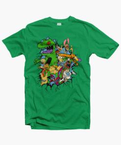 Rugrats Reptar Shirt irish green