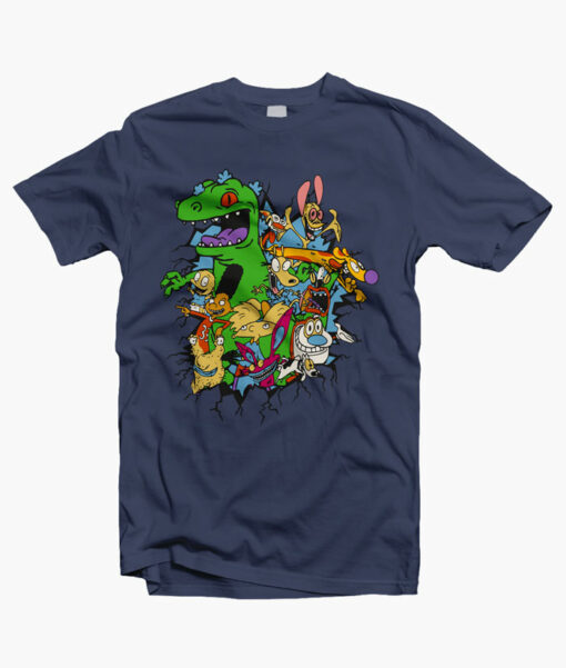Rugrats Reptar Shirt navy blue