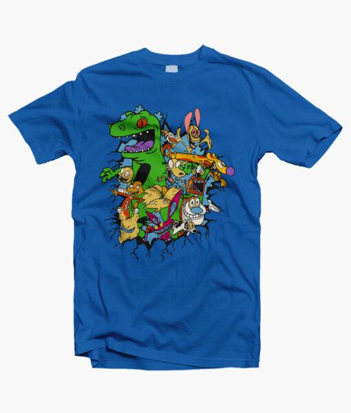 Rugrats Reptar Shirt royal blue