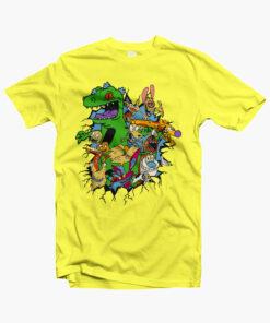 Rugrats Reptar Shirt yellow