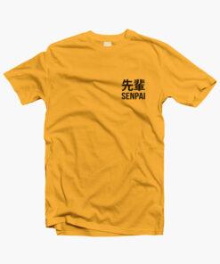 Senpai T Shirt gold yellow