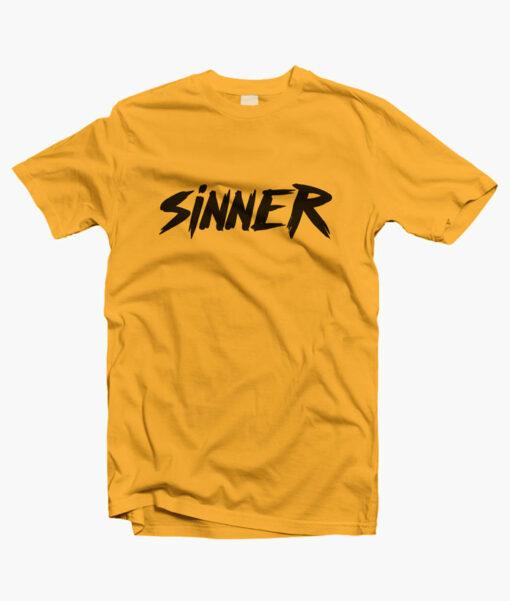 Sinner T Shirt gold yellow