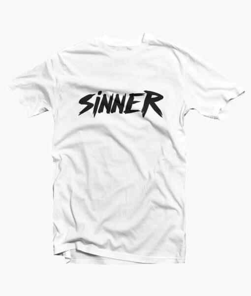 Sinner T Shirt white