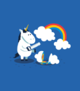 Unicorn Funny T Shirt Rainbow