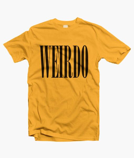 Weirdo T Shirt gold yellow
