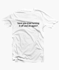 White IT Solution T Shirt white