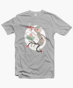 Wine O Clock T Shirt grey