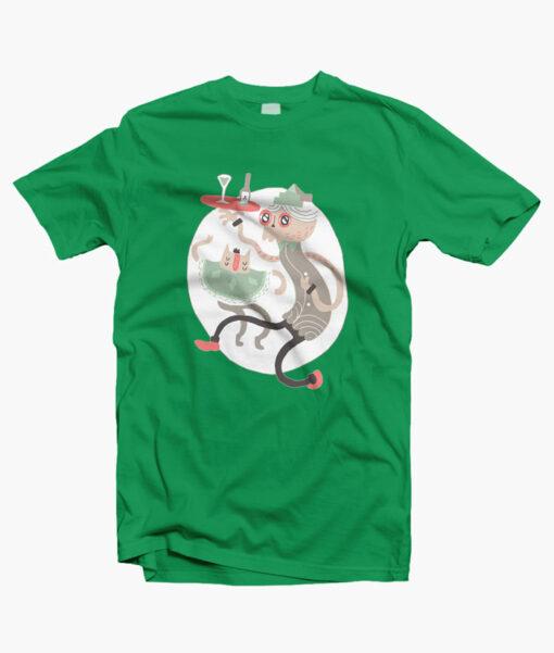 Wine O Clock T Shirt irish green
