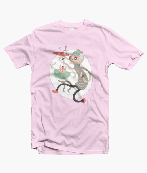 Wine O Clock T Shirt pink